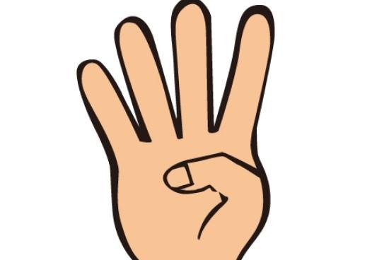 指の_4つの画像